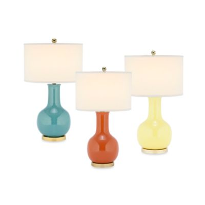 Safavieh Paris Ceramic Table Lamp in Orange