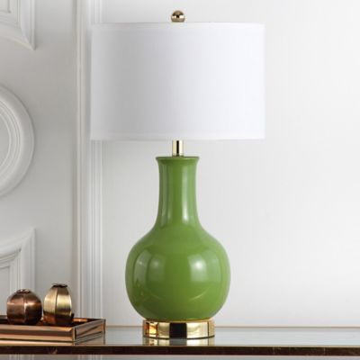 Safavieh Paris Ceramic Table Lamp in Green