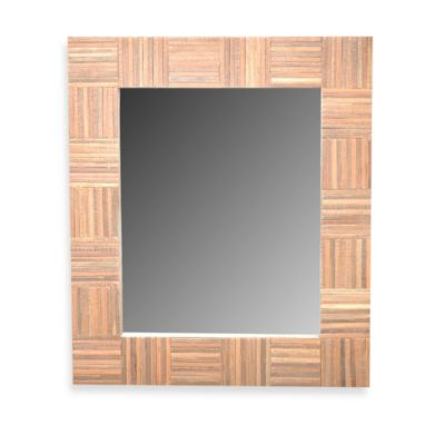 Jeffan Cheyenne Wood Mirror in Rectangle