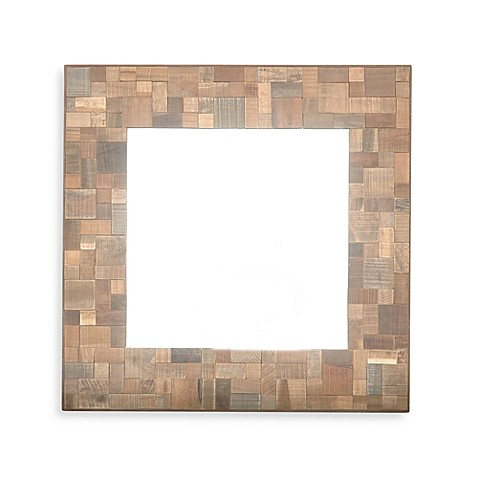 Jeffan Sequoia Square Wood Mirror