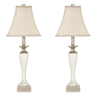 Safavieh Kailey Glass Lattice Table Lamps (Set of 2)