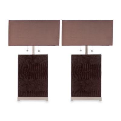 Cheryl Crocodile Table Lamps (Set of 2)