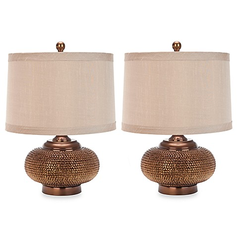 Gold Beaded Table Lamps (Set of 2)