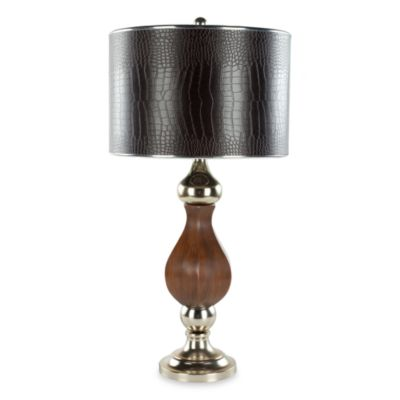 Camille Faux Croc Leather Shade Table Lamp
