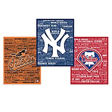 Major League Baseball Typography Canvas Art