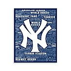 New York Yankees Typography Canvas Art