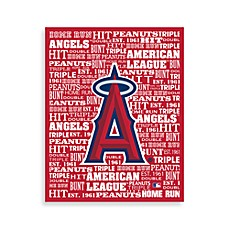 Los Angeles Angels of Anaheim Typography Canvas Art