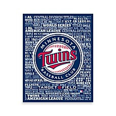 Minnesota Twins Typography Canvas Art