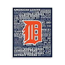 Detroit Tigers Typography Canvas Art