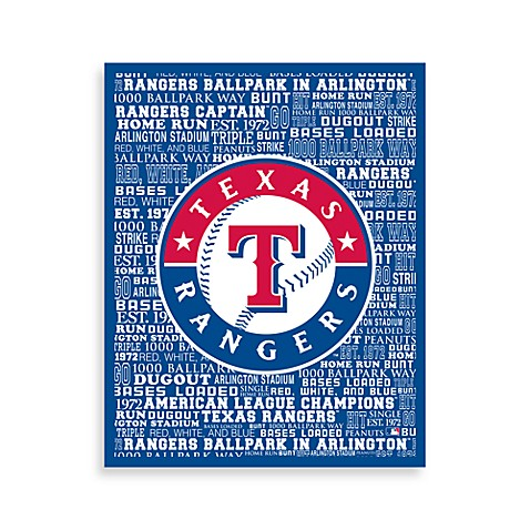 Texas Rangers Typography Canvas Art