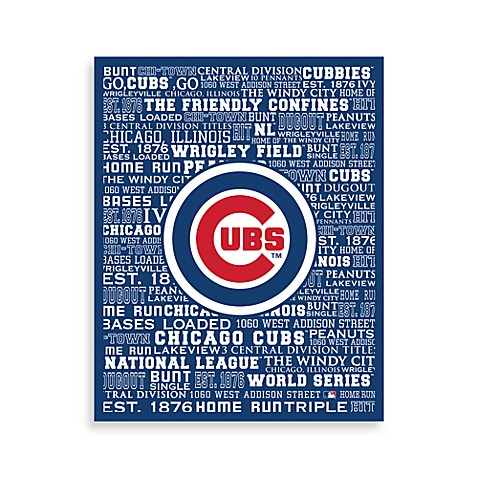 Chicago Cubs Typography Canvas Art