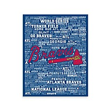Atlanta Braves Typography Canvas Art