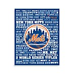New York Mets Typography Canvas Art