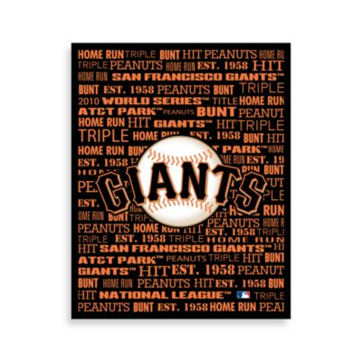San Francisco Giants Typography Canvas Art