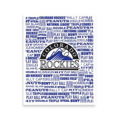 Colorado Rockies Typography Canvas Art