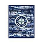 Seattle Mariners Typography Canvas Art