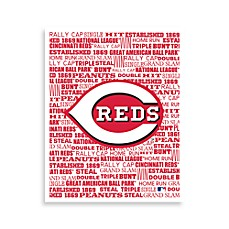 Cincinnati Reds Typography Canvas Art