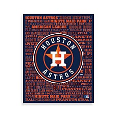Houston Astros Typography Canvas Art