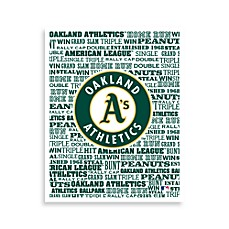 Oakland Athletics Typography Canvas Art
