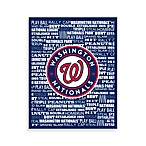 Washington Nationals Typography Canvas Art