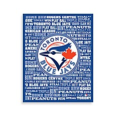 Toronto Blue Jays Typography Canvas Art