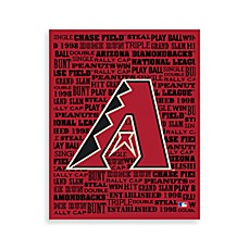 Arizona Diamondbacks Typography Canvas Art