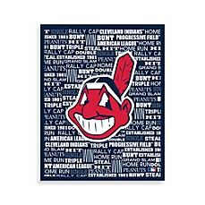 Cleveland Indians Typography Canvas Art