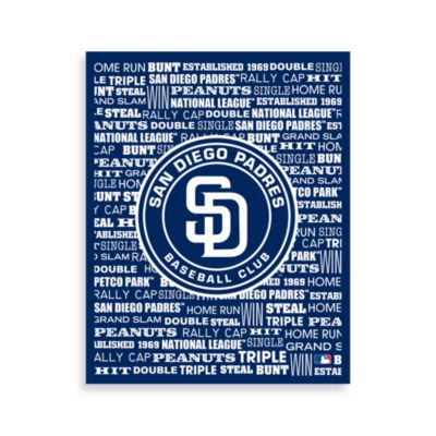 San Diego Padres Typography Canvas Art