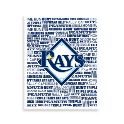Tampa Bay Rays Typography Canvas Art