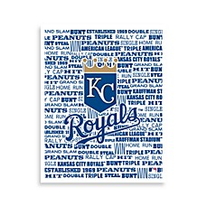 Kansas City Royals Typography Canvas Art