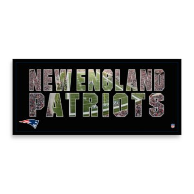 New England Patriots Canvas Art Team Pride