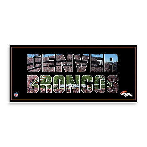 Denver Broncos Canvas Art Team Pride