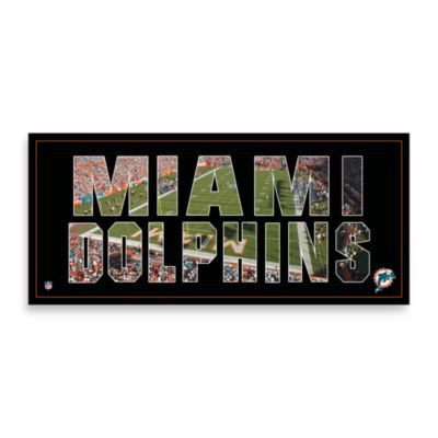 Miami Dolphins Canvas Art Team Pride