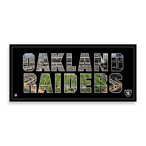Oakland Raiders Canvas Art Team Pride