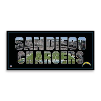 San Diego Chargers Canvas Art Team Pride