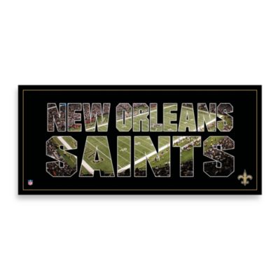 New Orleans Saints Canvas Art Team Pride