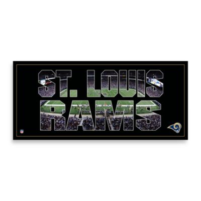 St. Louis Rams Canvas Art Team Pride