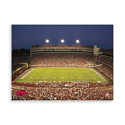 University of Arkansas Canvas Art Team Stadium