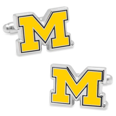 NCAA Silver University of Michigan Cufflinks
