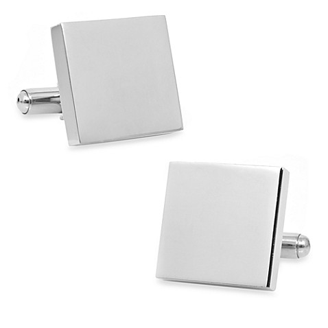 Stainless Steel Square Cufflinks