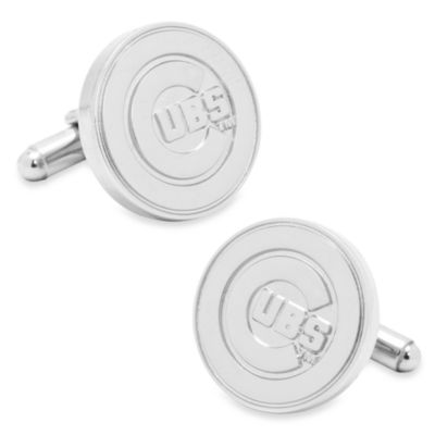 MLB Silver Edition Cubs Cufflinks