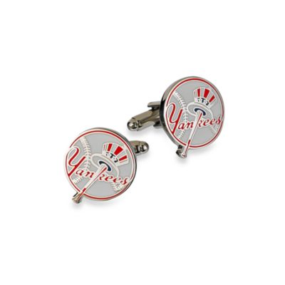 MLB Yankees Baseball Cufflinks