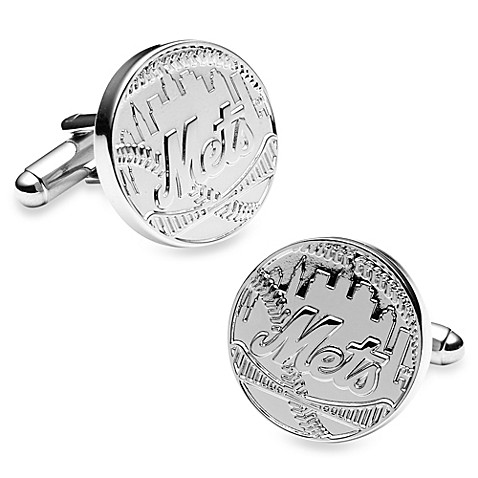 MLB Silver Edition New York Mets Cufflinks