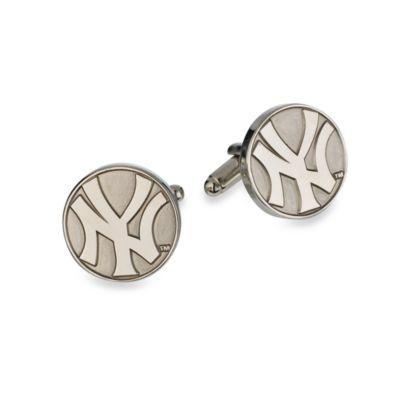 MLB Silver Edition Yankees Cufflinks