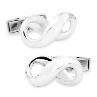 Sterling Silver Infinity Symbol Cufflinks