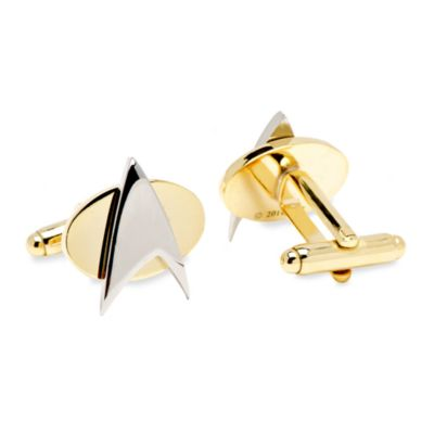 Two-Tone Star Trek Delta Shield Cufflinks