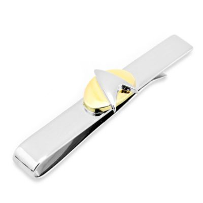 Two-Tone Star Trek Delta Shield Tie Bar