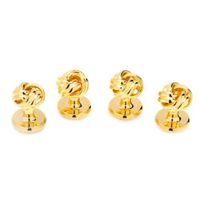 Gold Knot Studs Cufflinks (Set of 4)