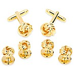 Gold Knot Stud/Cufflinks Set
