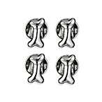 Robin Rotenier Sterling Silver Dog Bone Studs Set